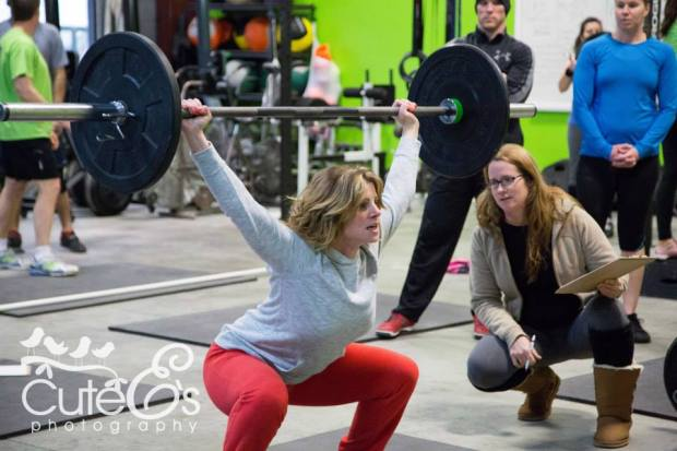More OHS with Athlete Melissa D. at CrossFit Chronic