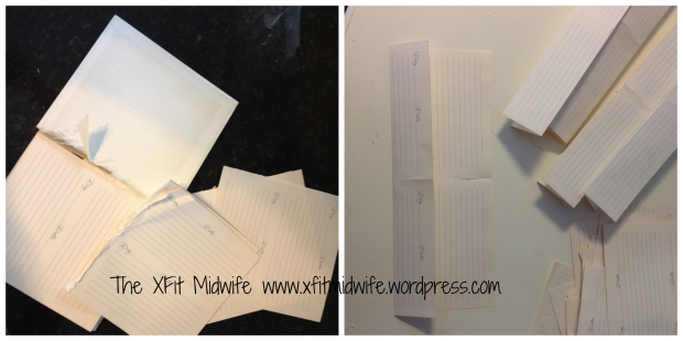 Here are the ripped out pages and how I folded the pages.
