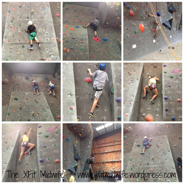 rock climbing collage