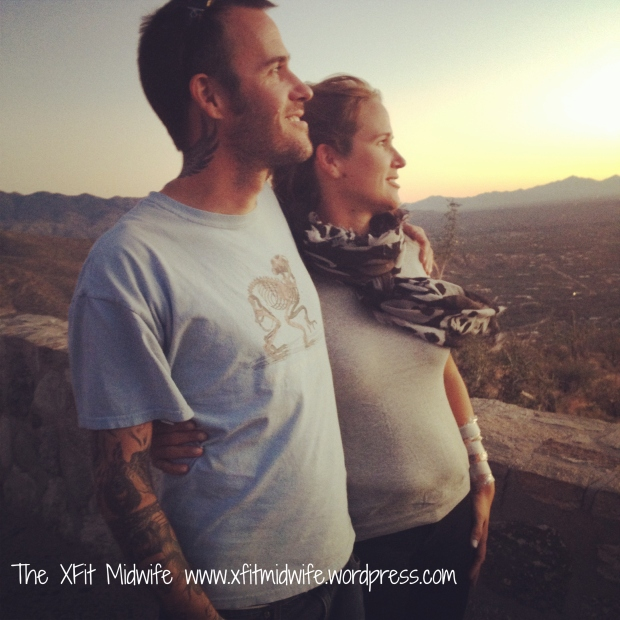 My brother, Jim and I at one of the vistas on Mt. Lemmon at sunset.