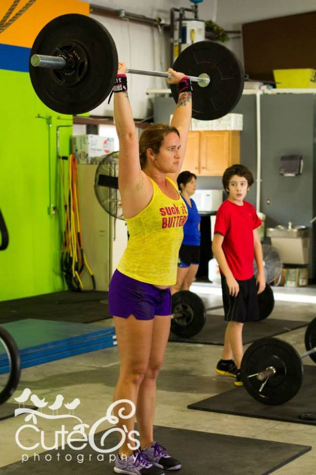 Fall 2013. WOD'ing with my son (in red). Team WOD with Push Presses. Dead Lifts, and Front Squats.