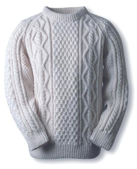 The Quinn Clan Aran Sweater.