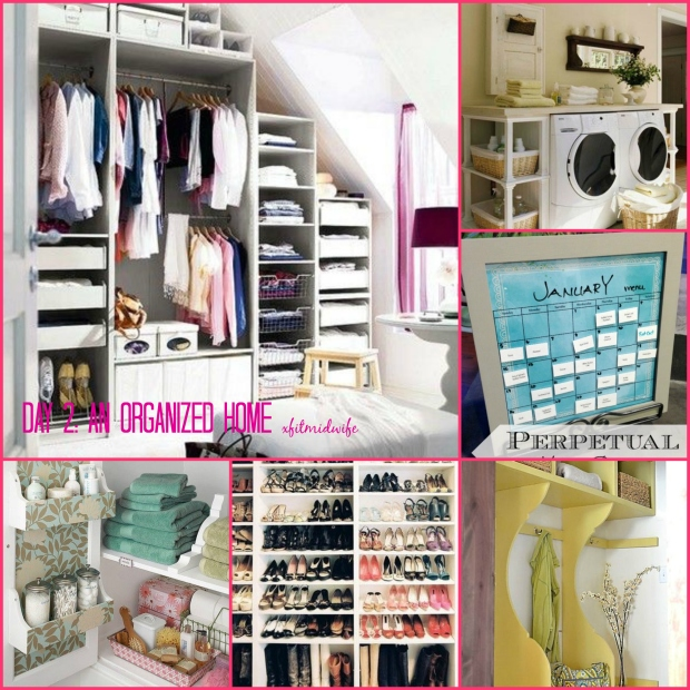 organized home collage
